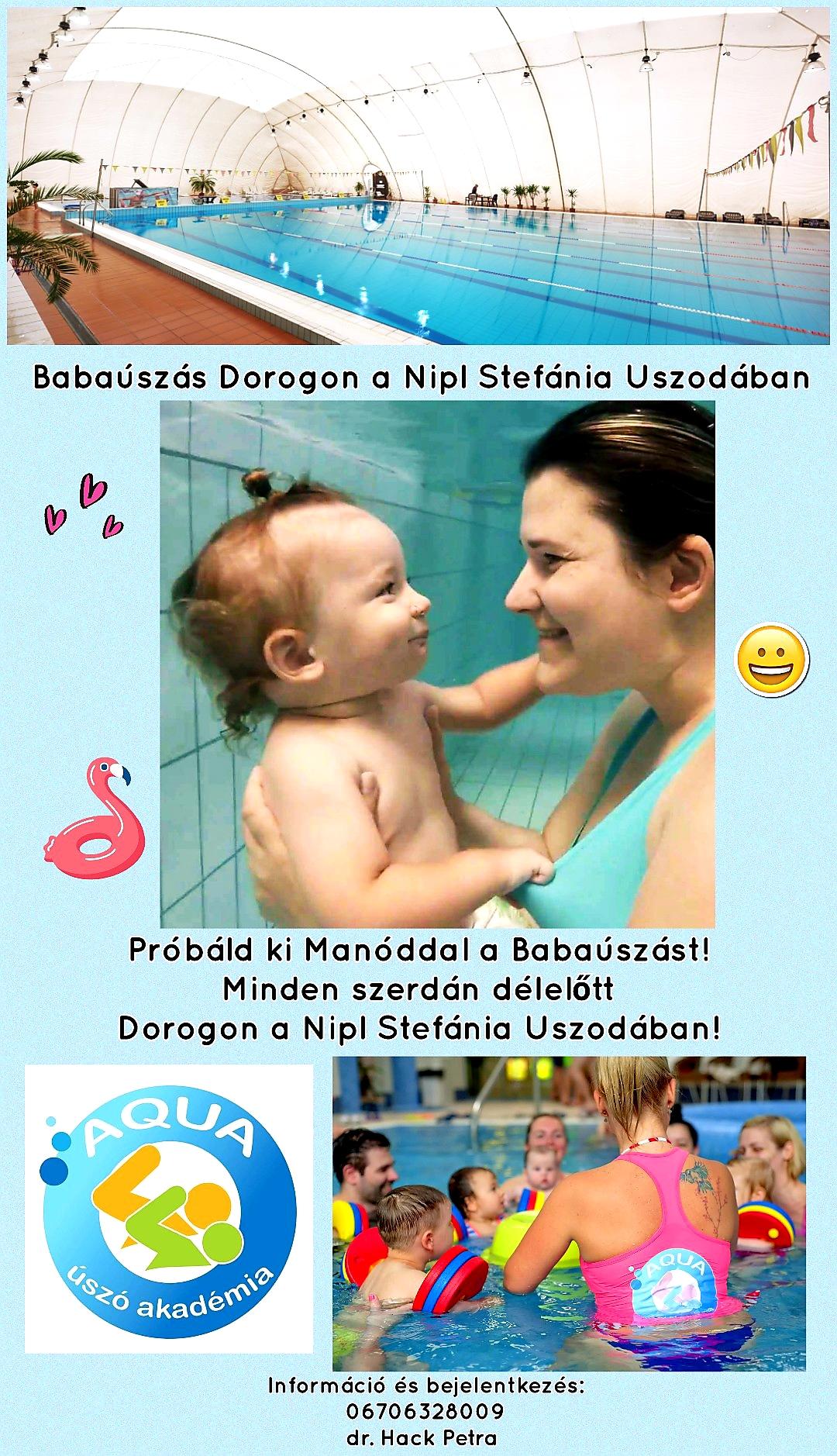 babaúszás az usziban